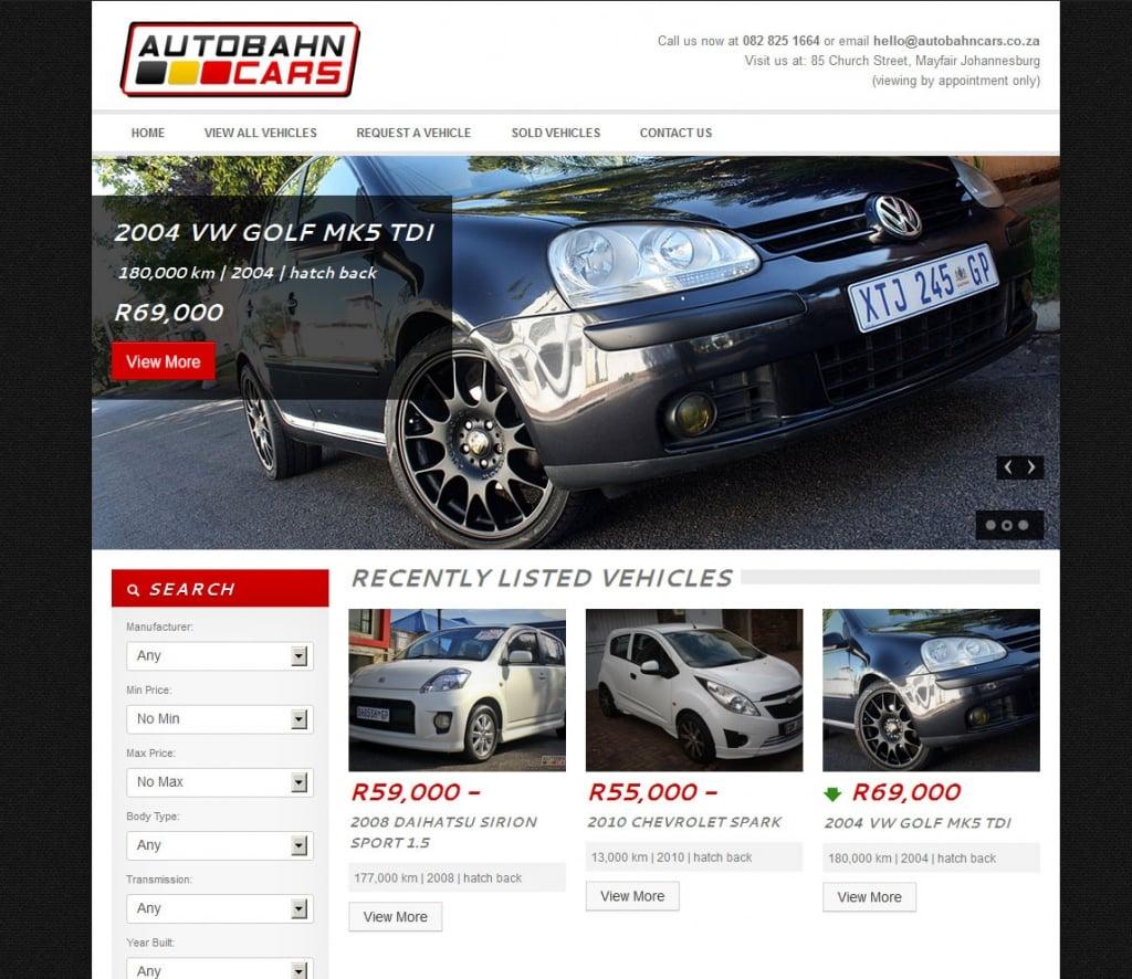 Autobahn cars digital boutique for Motor car portfolio site inventory